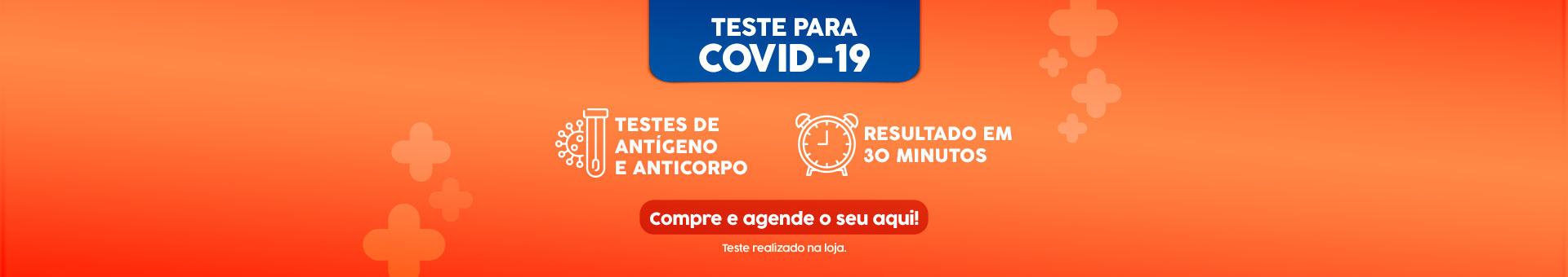 Banner Teste de COVID