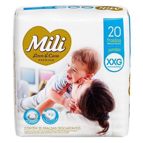 Fralda-Mili-Love-E-Care-Xxg-Jumbo-Com-20-Unidades