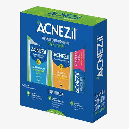 Sabonete-Acnezil-Liquido-C-1-Todos-Os-Tipos-De-Pele--locao-Adstringente---Gel-Secativo